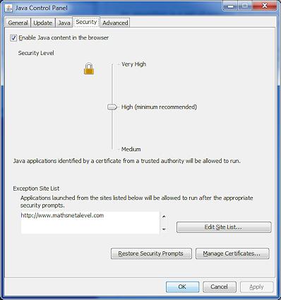 MathNet AP: Java Technical Help